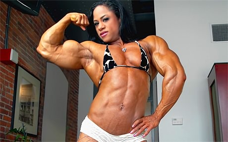 Massive muscular Female Bodybuilder posing ultra shredded from wonderful katie morgan