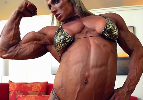 Huge muscular Goddess flexing her massive ripped muscles from wonderful katie morgan