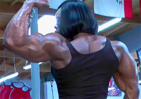 Black muscular Mistress Treasure gym workout from wonderful katie morgan