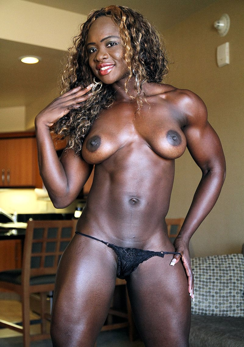 Muscled Ebony Girl Kelli